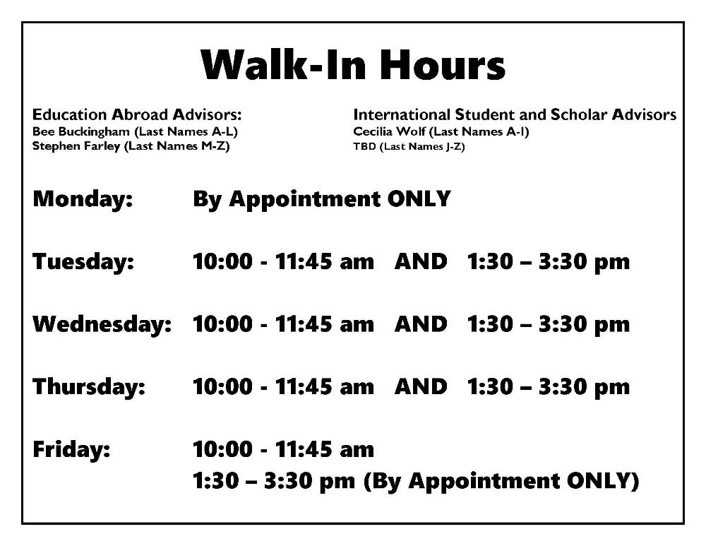 FA17 Walk-In Hours