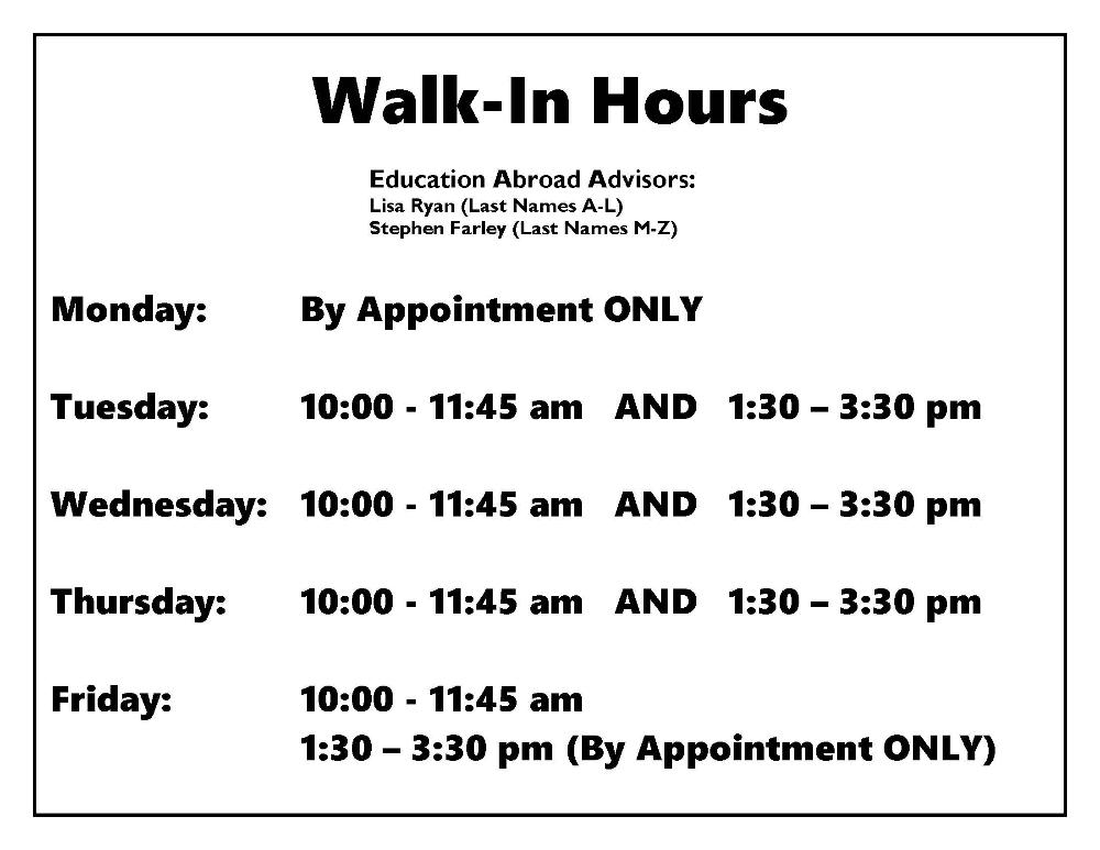 Walk-In Hours